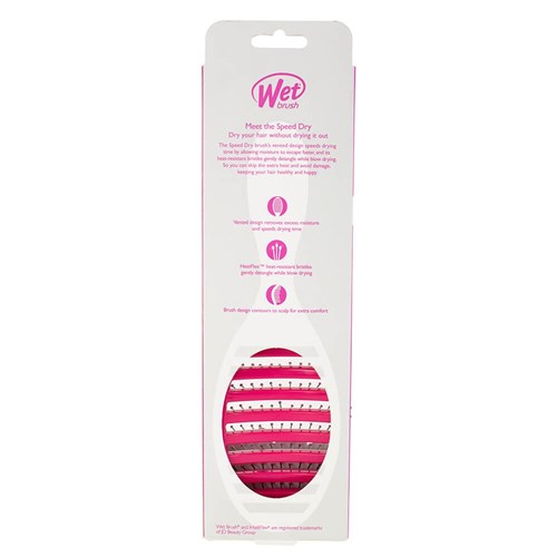 WetBrush Speed Dry Hair Brush Pink Pacakge Back