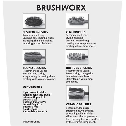 Brushworx Keratin Silk Ceramic Boar Bristle Radial Hair Brush - Medium