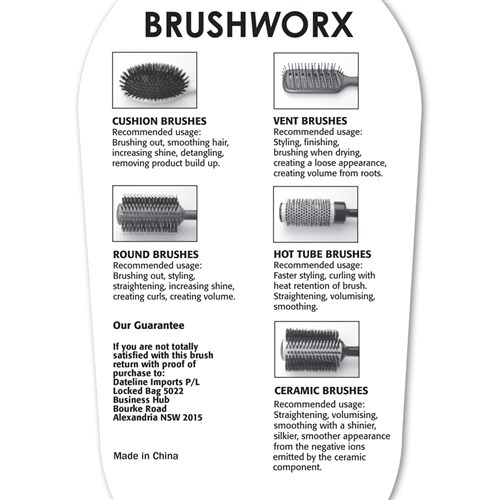 Brushworx Tourmaline Porcupine Radial Hair Brush - Medium
