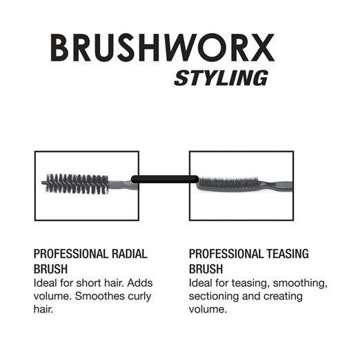 Brushworx Styler Medium 30mm Bottle Hair Brush - Black