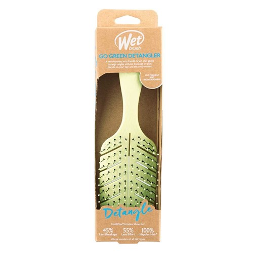 WetBrush Go Green Detangler Hair Brush Green