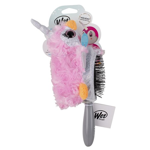 WetBrush Plush Brush Detangling Hair Brush Penguin