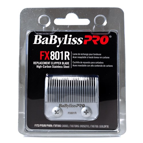 BaBylissPRO Replacement Hair Clipper Taper Blade Silver FX801R