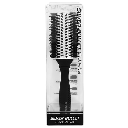 Silver Bullet Black Velvet Hair Brush Extra Large