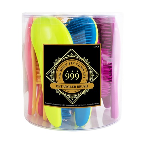 Premium Pin Company 999 Detangler Hair Brushes 12pc Display
