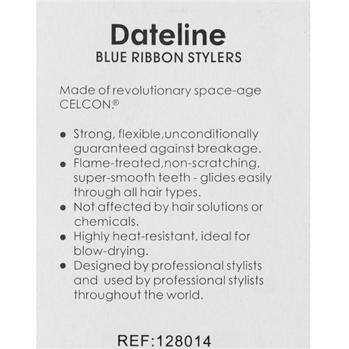 Dateline Professional Blue Celcon 407 Styling Comb instructions