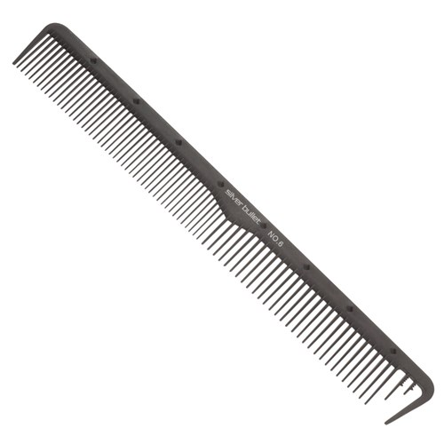 Silver Bullet Carbon Wide Teeth Cutting Hair Comb