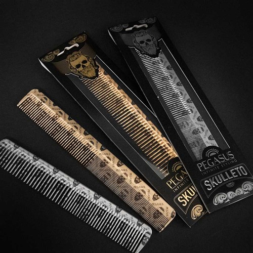 Pegasus Skulleto 202 Styling Comb Gold