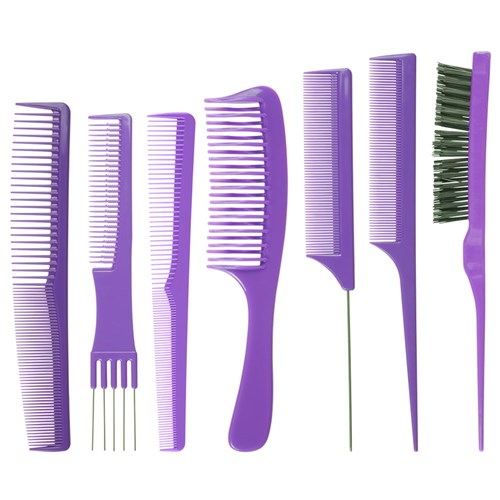 Salon Smart Folding Comb Set Purple