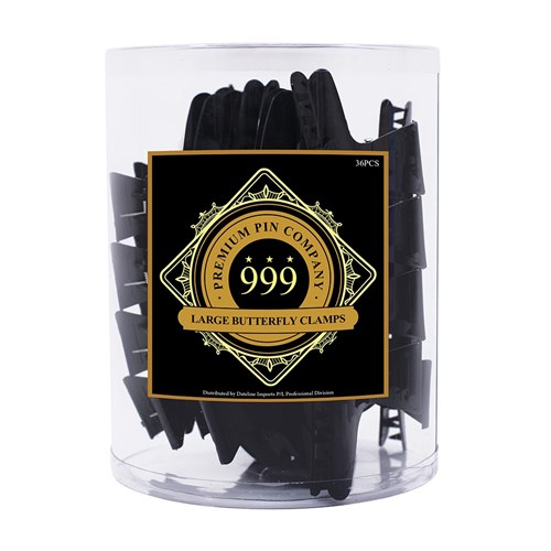 Premium Pin Company 999 Large Black Butterfly Clamps - 102