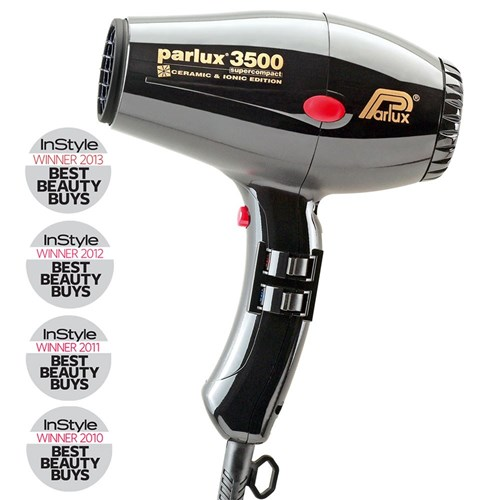 Parlux 3500 SuperCompact Ceramic Ionic Hair Dryer Black