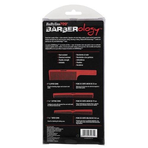 BaBylissPRO Barberology Barbers Comb Package Instructions