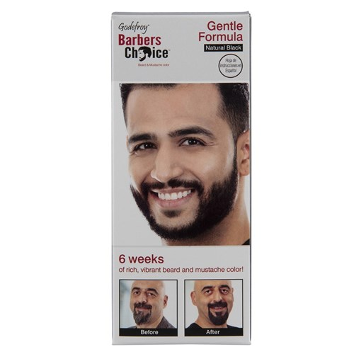 Godefroy Beard and Moustache Colour Natural Black