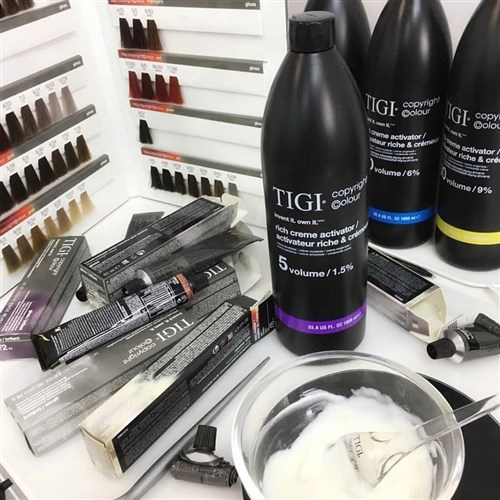 TIGI Copyright Colour Gloss 4.85 Ash Mahogany Brown